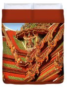 Roof Of Buddhist Temple In Thailand Duvet Cover