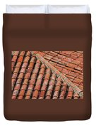 Roof Tiles And Mortar  Duvet Cover