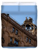 Rooftop Chariots And Horses - The Hippodrome Casino Leicester Square London U K Duvet Cover