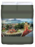 Rooftop View_pano Duvet Cover