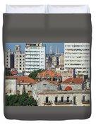 Rooftops Of Old Town Havana Duvet Cover