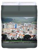 Rooftops Of Ponta Delgada Duvet Cover