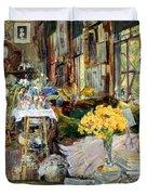 Room Of Flowers, 1894 Duvet Cover