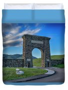 Roosevelt Arch At Yellowstone Dsc2522_05252018 Duvet Cover