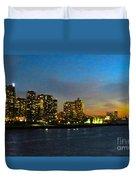 Roosevelt Island 1 New York Duvet Cover