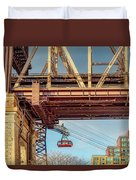 Roosevelt Tram Underneath The 59 St Bridge Duvet Cover
