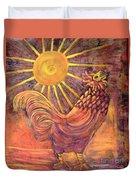 Rooster Batik Duvet Cover