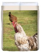 Rooster Crowing Duvet Cover