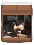 Rooster In A Coop Duvet Cover