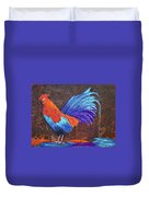 Rooster Painting Duvet Cover
