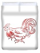 Rooster - Sign Of Chinese New Year Duvet Cover
