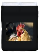Rooster Up Close And Personal Duvet Cover