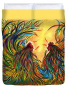 Roosters Frienship Duvet Cover