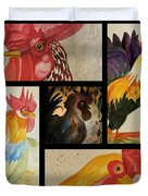 Roosters Duvet Cover