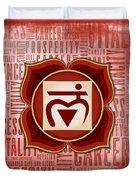 Root Chakra - Awareness Duvet Cover