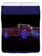 Rope Light Art 1957 Chevy Duvet Cover