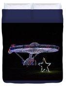Rope Light Art Star Trek Enterprise Duvet Cover
