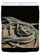 Rope On The Dock Duvet Cover