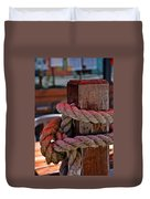 Rope On Wood Duvet Cover