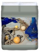 Ropes Nets And Bouys Duvet Cover