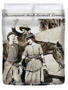 Roping Her Romeo 1919 Duvet Cover
