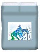 Roping Horse Duvet Cover
