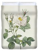 Rosa Alba Foliacea Duvet Cover