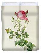 Rosa Centifolia Bipinnata Duvet Cover