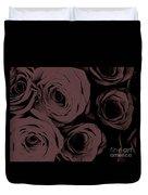 Rosa D'amore Deep Mauve Duvet Cover