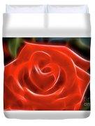 Rose-5856-fractal Duvet Cover