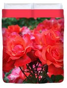 Rose Abundance Duvet Cover by Rona Black