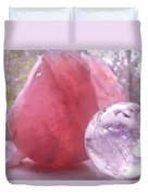 Rose And Clear Quartz 1 Duvet Cover