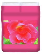 Rose And Raindrops Duvet Cover