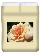 Rose Art Peach Orange Roses Sunlit Florals Giclee Baslee Troutman Duvet Cover