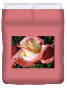 Rose Artwork Floral Pink White Roses Baslee Troutman Duvet Cover