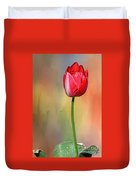 Red Tulip At Sunset By Kaye Menner Duvet Cover