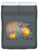 Rose At Sunset Duvet Cover