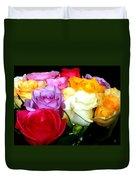 Rose Bouquet Painting Duvet Cover