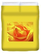 Rose Bright Orange Sunny Rose Flower Floral Baslee Troutman Duvet Cover