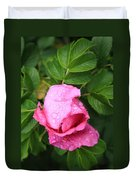 Rose Bud And Bee Duvet Cover