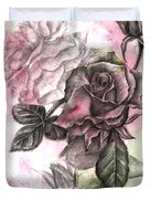 Rose Bud Pink Duvet Cover