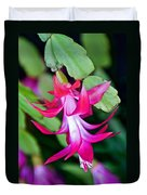 Rose-colored Christmas Cactus At Pilgrim Place In Claremont-california  Duvet Cover