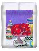Rose Covered Cake Duvet Cover