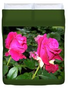 Rose Duo Duvet Cover