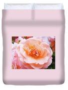 Rose Floral Art Print Peach Pink Roses Garden Canvas Baslee Troutman Duvet Cover
