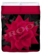 Rose Flower Duvet Cover