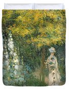 Rose Garden Duvet Cover by Claude Monet