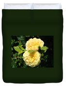 Rose Garden Floral Art Print Yellow Roses Canvas Baslee Troutman Duvet Cover