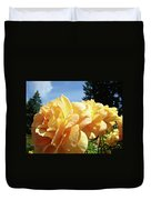 Rose Garden Yellow Peach Orange Roses Flowers 3 Botanical Art Baslee Troutman Duvet Cover