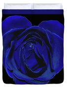 Rose Heart In Blue Velvet Duvet Cover